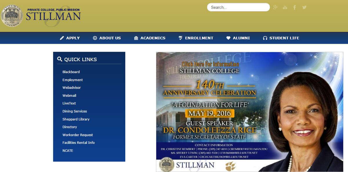 AlabamaStillman CollegeAcceptance rate (Fall 2014): 43 percent