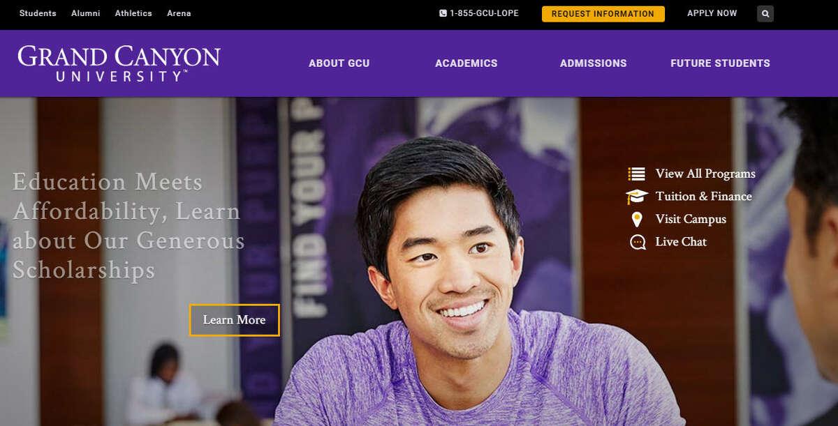 ArizonaGrand Canyon UniversityAcceptance rate (Fall 2014): 54.8 percent