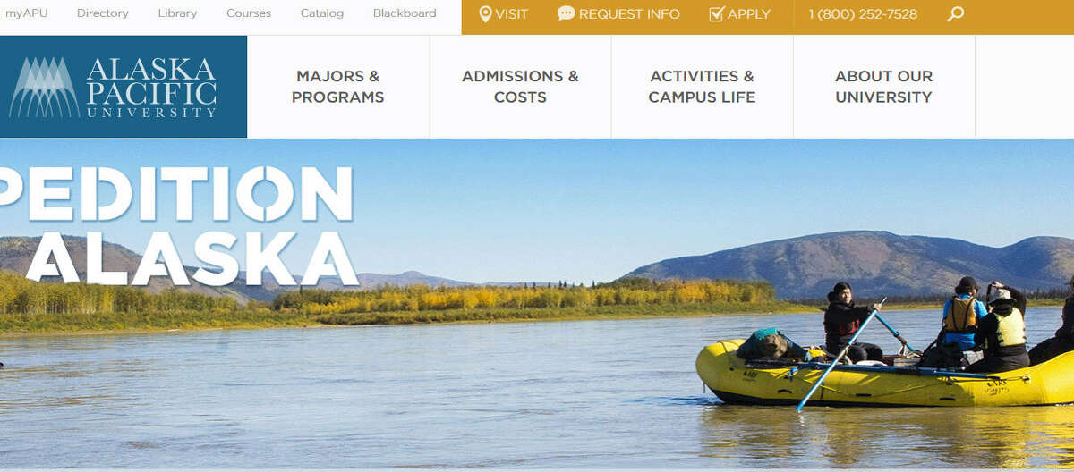 AlaskaAlaska Pacific UniversityAcceptance rate (Fall 2014): 42.1 percent