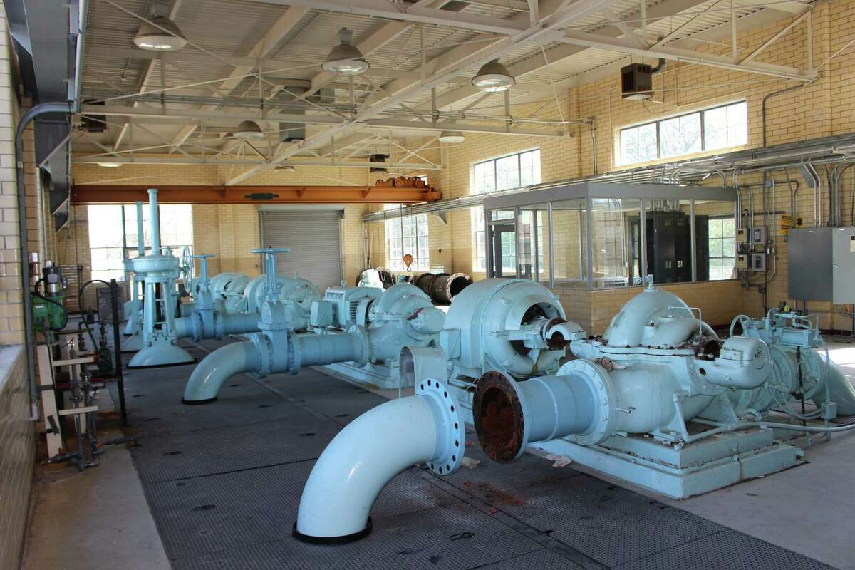 The city is selling this pumping station, whose structures date back to 1928.
