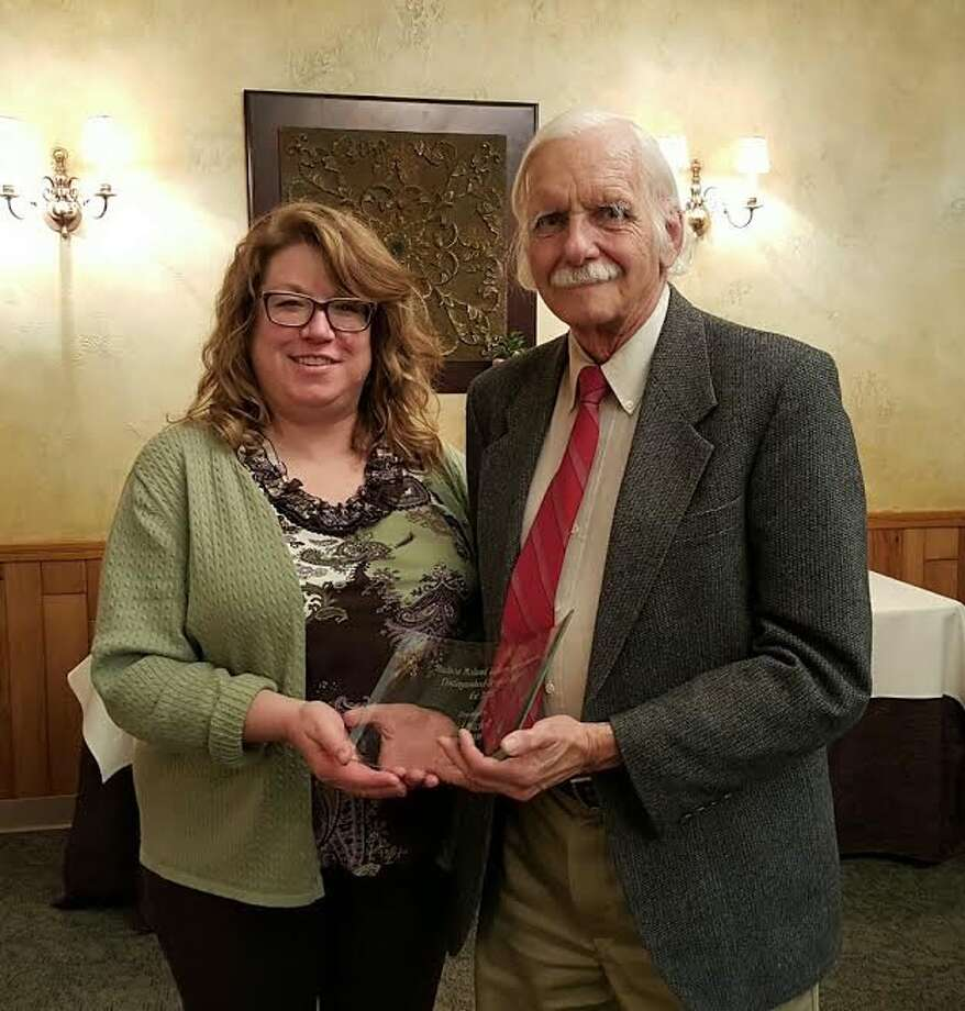 On Friday evening, April 22, Professor David Mitchell received the Distinguished Service Award from the Hudson Mohawk Library Association. (Submitted photo)