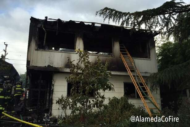 A home in an unincorporated area near San Leandro was condemned after a fire on Thursday May 5, 2016. Officials said one firefighter was injured during the fire.