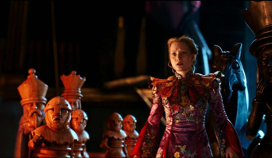 "This image released by Disney shows Mia Wasikowska in a scene from ""Alice Through the Looking Glass,"" premiering in US theaters on May 27. (Disney via AP) Photo: Associated Press"