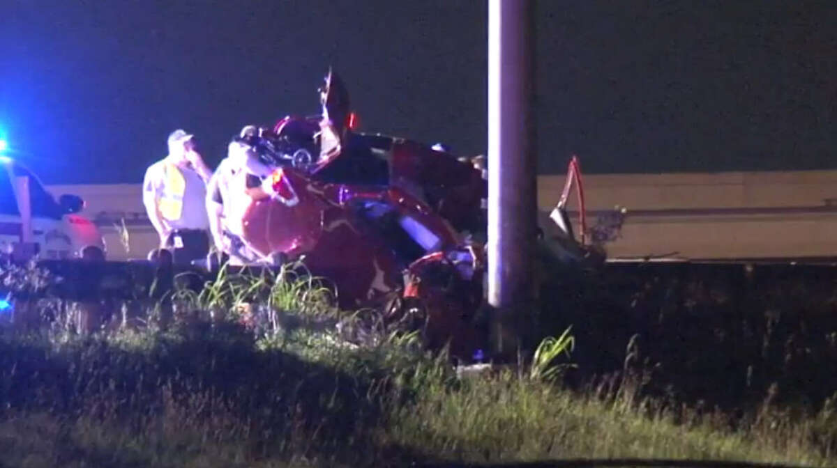 At least one person is dead after a violent car crash on Texas 288 early Friday morning. The accident has snarled inbound traffic in the area.
