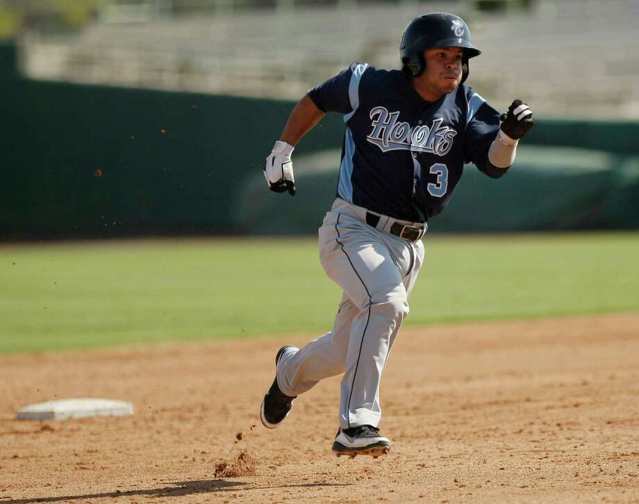 Jose AltuveJose Altuve (shown above a year later with the Corpus Christi Hooks) was in Class A ball in Lancaster, and more than a year away from $2 tickets in honor of his No. 2 jersey to celebrate his promotion to the majors. Photo: Darren Abate, SPECIAL TO THE EXPRESS-NEWS / SAN ANTONIO EXPRESS-NEWS