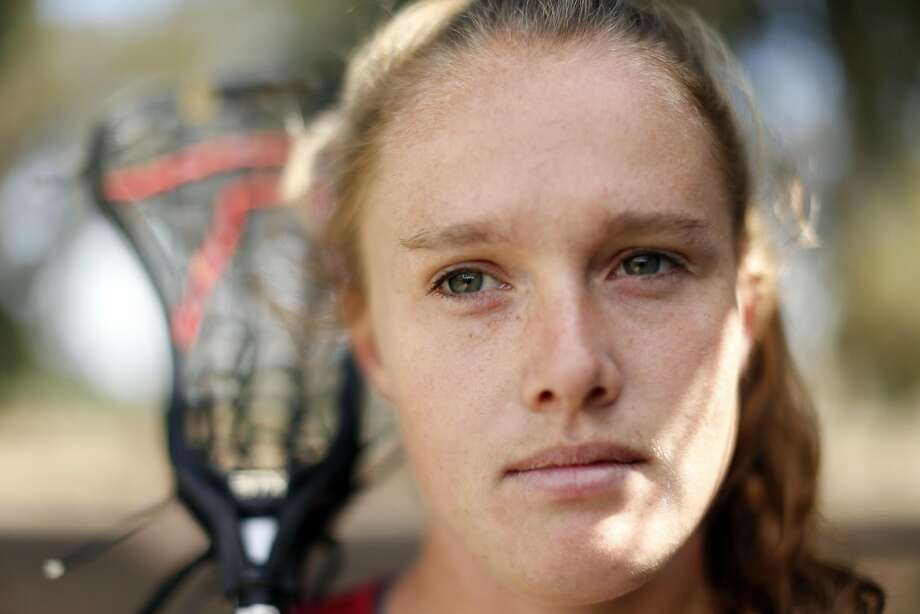 Stanford Lacrosse's Anna Salemo before practice in Stanford, Calif., on Thursday, May 5, 2016. Photo: Scott Strazzante, The Chronicle