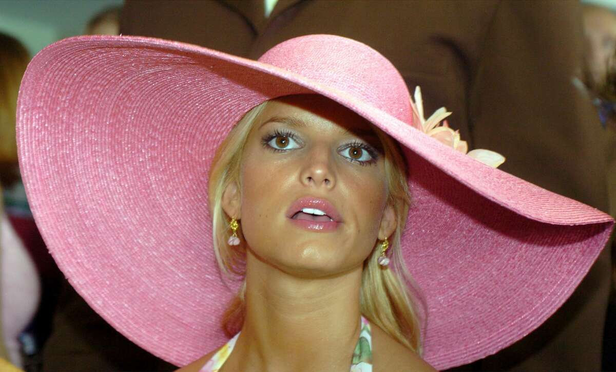Jessica Simpson attends the 130th Running of the Kentucky Derby May 1, 2004 in Louisville, Kentucky. (Photo by Mike Simons/Getty Images)