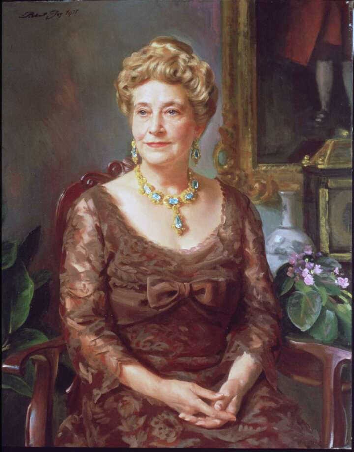 This painting of Ima Hogg, by Robert Joy, is at the Museum of Fine Arts, Houston. Hogg was a philanthropist who supported many causes, including the arts. Photo: MFA / handout slide