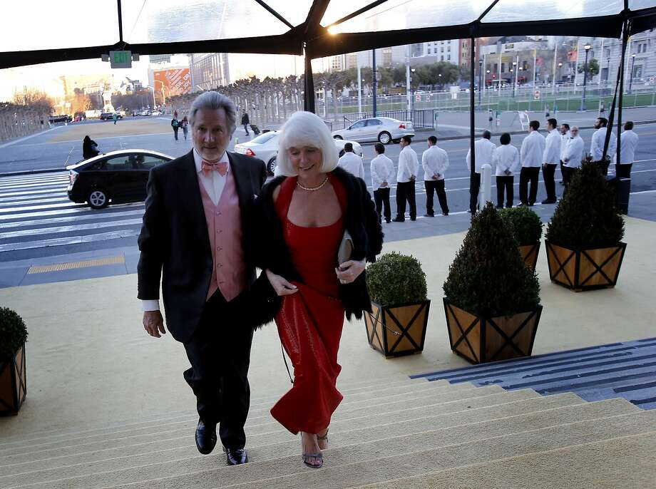 Steve and Kelli Burrill arrive at the S.F. Ballet Gala in San Francisco in 2014. Steve Burrill embezzled $31 million from venture funds he managed. Photo: Brant Ward, The Chronicle