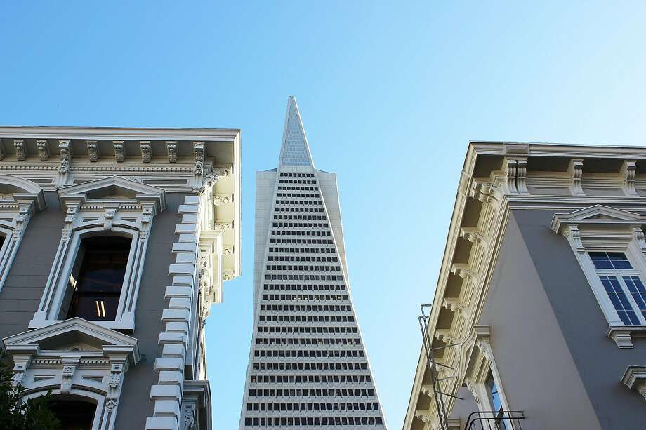 The Transamerica Pyramid looms over Jackson Square, one of the city's first business districts. Photo: Stephanie Wright Hession