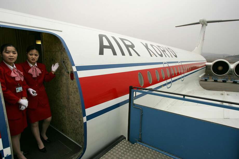 PHOTOS: Air Koryo, the world's worst airlineAir hostesses on Air Koryo, the North Korean airline wait for passengers at Pyongyang International airport, 02 April 2005.  Fewer than 2,000 Western tourists visit North Korea annually and must travel with government-approved agencies. Photo: AFP/Getty Images