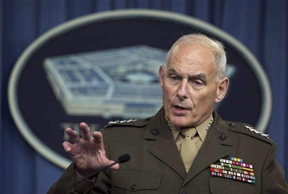 U.S. Southern Command Commander Gen. John Kelly speaks to reporters during a briefing at the Pentagon, Friday, Jan. 8, 2016. (AP Photo/Manuel Balce Ceneta) Photo: Manuel Balce Ceneta