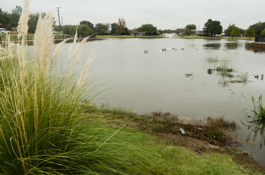 Wadley Barron Park was nearly full Monday morning following weekend rains in Midland. Tim Fischer\Reporter-Telegram Photo: Tim Fischer