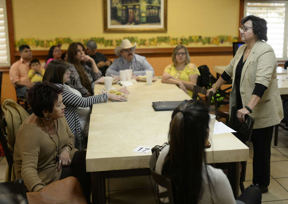 Dallas County Sheriff Lupe Valdez meets with the Midland County Democratic Party on Saturday, Jan. 9, 2016, at Martinez Bakery. James Durbin/Reporter-Telegram Photo: James Durbin