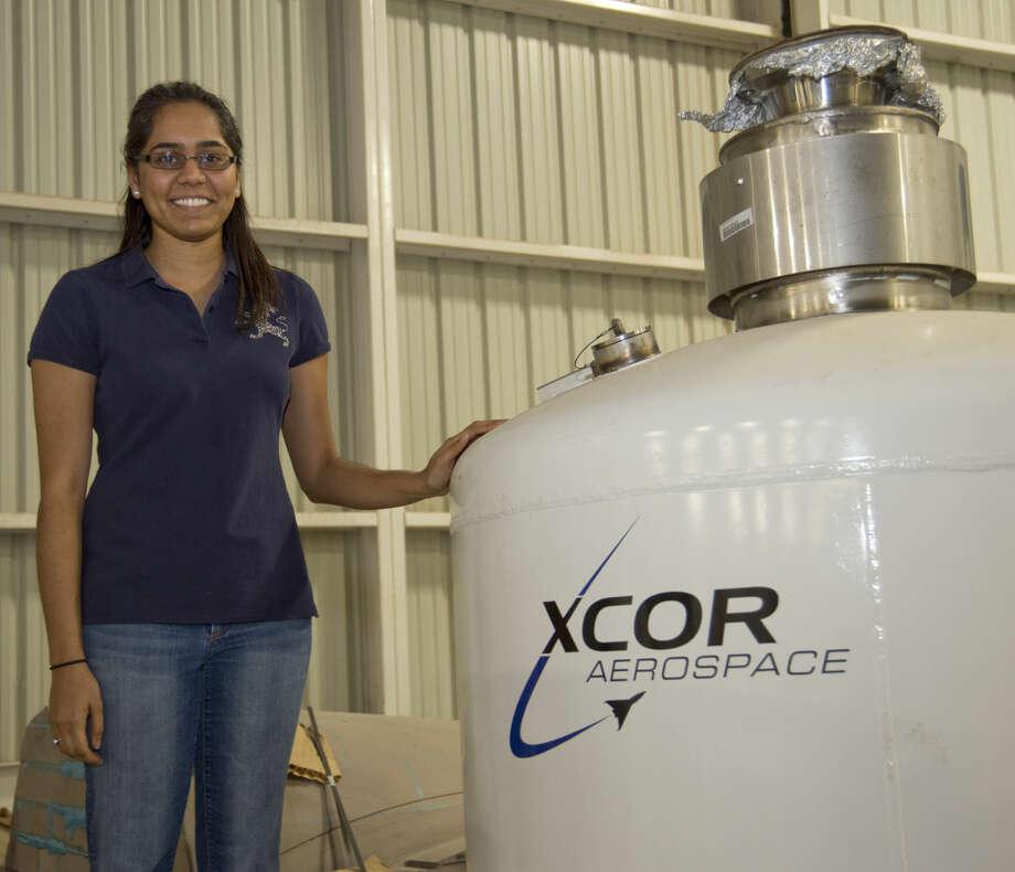 Anita Solanki, engineer with XCOR Aerospace. Thursday 01-07-16 Tim Fischer\Reporter-Telegram Photo: Tim Fischer