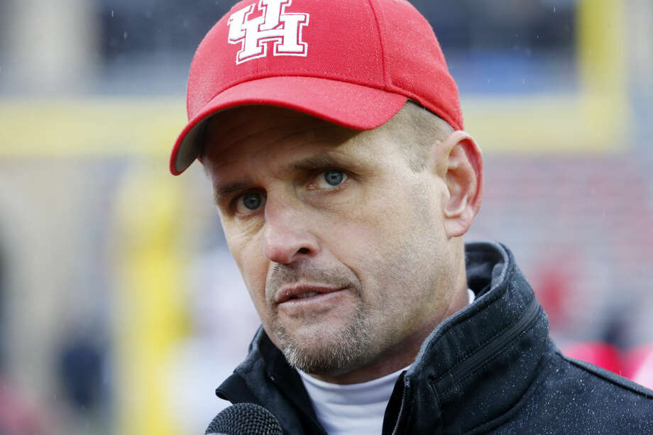 Houston interim head coach David Gibbs after the Armed Forces Bowl lst Friday in Fort Worth. Gibbs was hired as the new Texas Tech defensive coordinator on Monday. (AP Photo/Sharon Ellman) Photo: Sharon Ellman