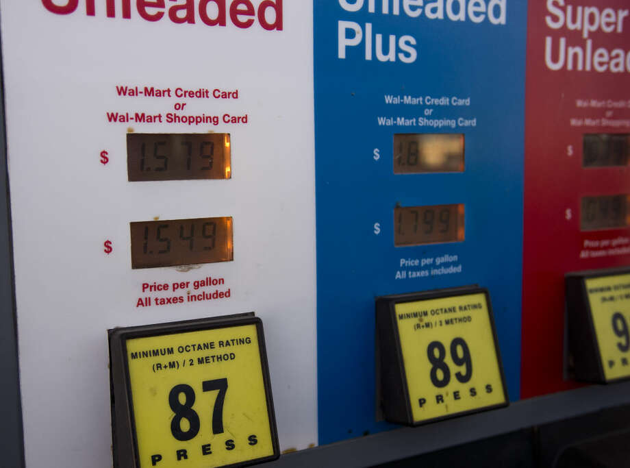 Regular unleaded gas was selling Thursday 01-14-16 for a low of $1.57 at the southside Walmart. Tim Fischer/Reporter-Telegram Photo: Tim Fischer