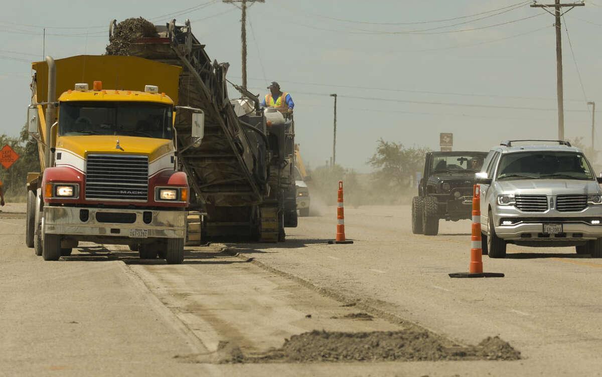 Road resurfacing work started Wednesday, 6-24-15, on the southbound lane of 1788 near Business 20. Tim Fischer\Reporter-Telegram