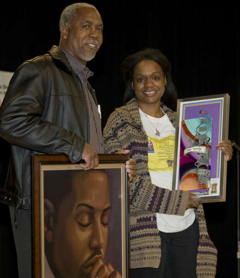 Roy Nelson and Toyia Zachery are both honored Monday 01-18-16 at the annual Martin Luther King Jr. Celebration with the MLK Community Service Award. Tim Fischer/Reporter-Telegram Photo: Tim Fischer