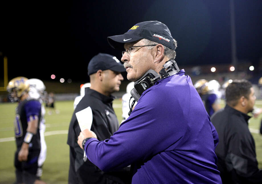 Midland High football head coach Craig Yenzer shakes hands with the Permian coaches after the game Friday, Oct. 23, 2015, at Grande Communications Stadium. James Durbin/Reporter-Telegram Photo: James Durbin