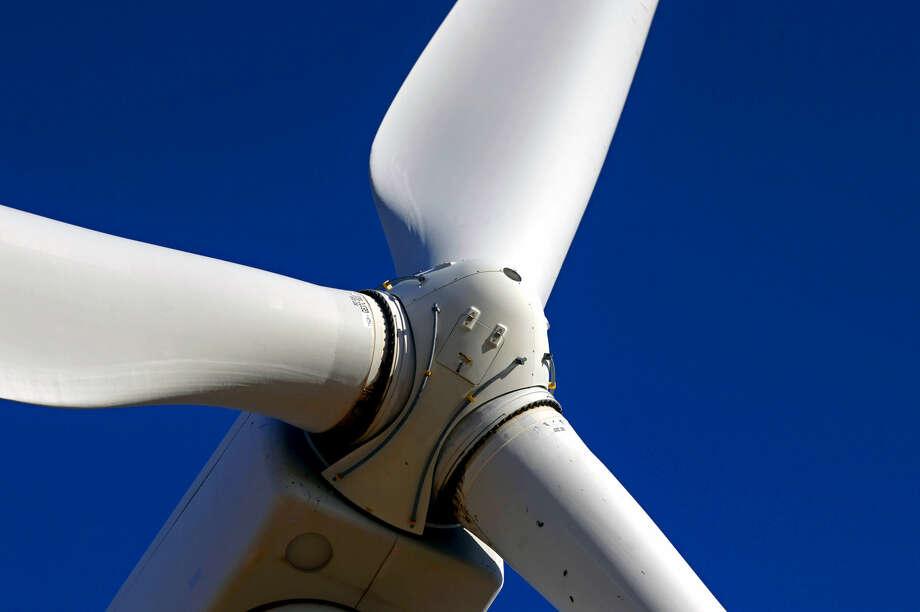 Wind turbine in action Tuesday, Oct. 27, 2015, north of Stanton, Texas. James Durbin/Reporter-Telegram Photo: James Durbin