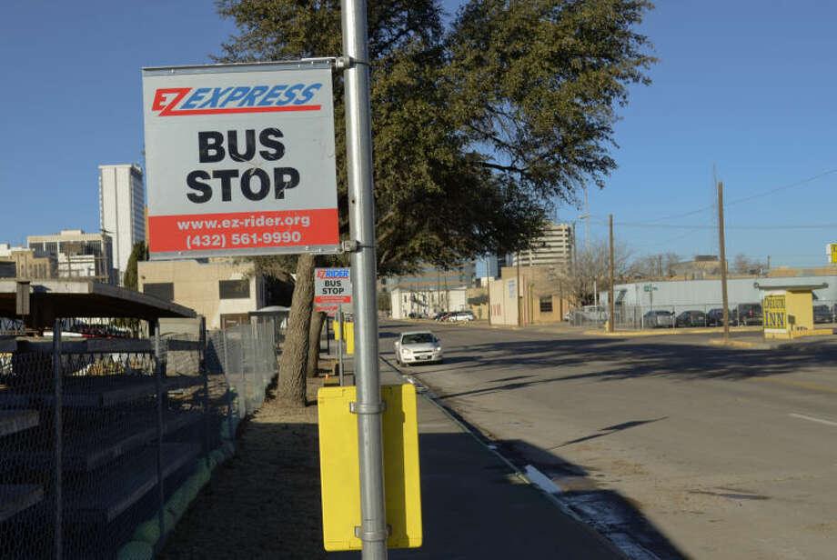 New downtown Ez Rider bus hub at corner of Texas and Ft. Worth. Tim Fischer\Reporter-Telegram Photo: Tim Fischer