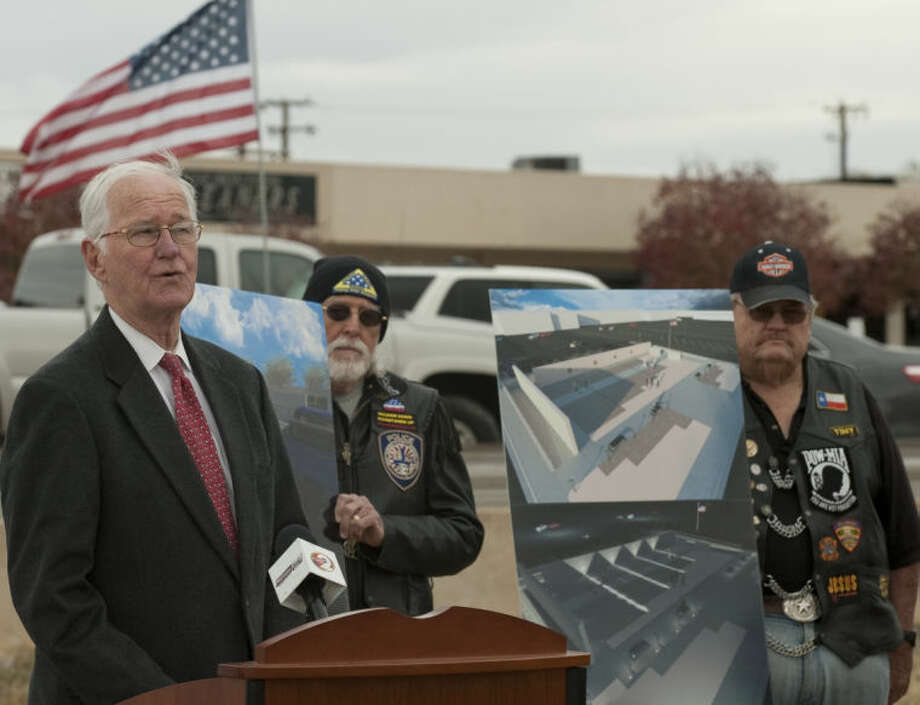 (File Photo) Midland County Judge Mike Bradford talks about the memorial, Heroes Plaza, that will be built in front of the Midland County Annex Building. Tim Fischer\Reporter-Telegram Photo: Tim Fischer