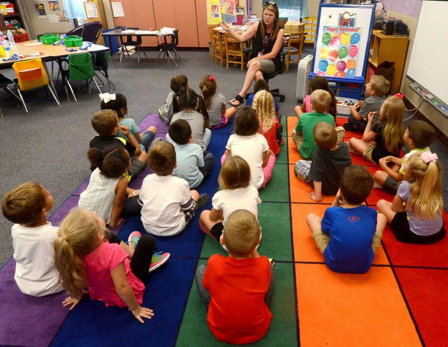 A kindergarten classroom at Scharbauer Elementary.