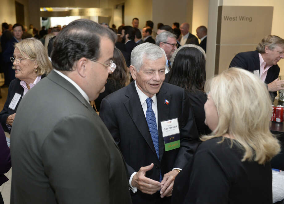 Tom Craddick of the Texas House of Representatives (center) mingles during the PBPA reception at the Petroleum Museum on Wednesday, Oct. 14, 2015. James Durbin/Reporter-Telegram Photo: James Durbin