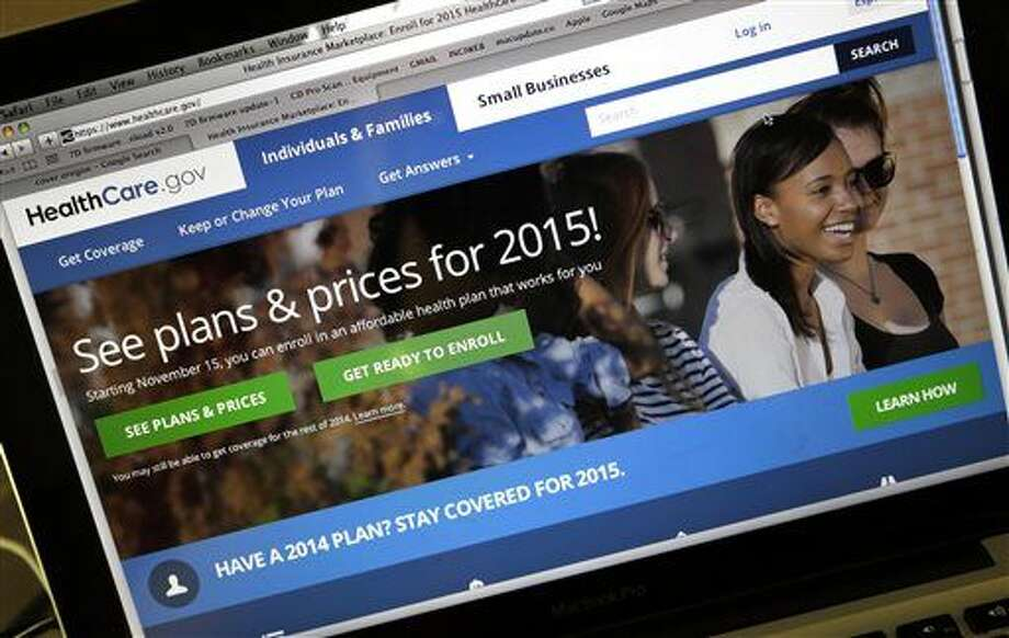 FILE - This Nov. 12, 2014 file photo shows the HealthCare.gov website, where people can buy health insurance, on a laptop screen, shown in Portland, Ore.  Photo: Don Ryan