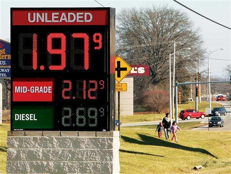 This AP file photo shows unleaded gasoline at below two dollars per gallon.  Photo: John Badman/Associated Press