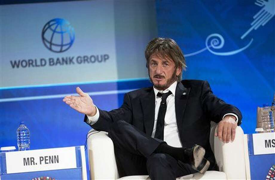 FILE - In this Oct. 8, 2015 file photo, Sean Penn speaks during a forum with young entrepreneurs during the IMF and World Bank annual meeting in Lima, Peru. Late Saturday, Jan. 9, 2016, Rolling Stone magazine published an interview that Guzman apparently gave to Penn in his hideout in Mexico months before his recapture. In the article and interview, Penn describes the complicated measures he took to meet the legendary drug lord. (AP Photo/Rodrigo Abd, File) Photo: Rodrigo Abd