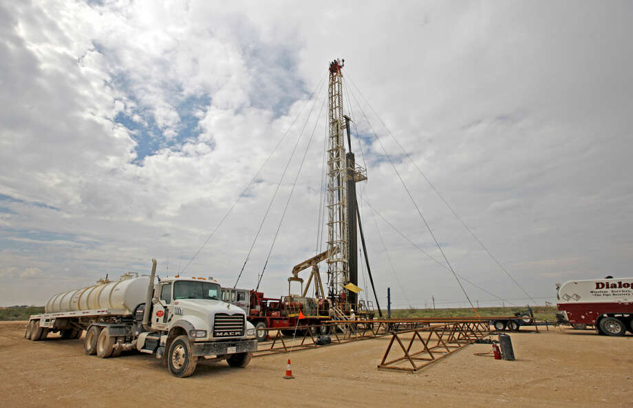 Active pumping rig located on Highway 385 south of Odessa, photographed Tuesday, Sept. 24, 2014. James Durbin/Reporter-Telegram Photo: James Durbin