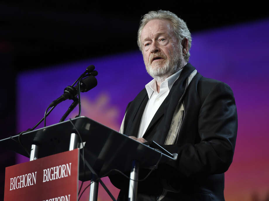 FILE - In this Jan. 2, 2016 file photo, Ridley Scott presents the Chairman's award at the 27th annual Palm Springs International Film Festival Awards Gala in Palm Springs, Calif. Scott, along with Adam McKay, Tom McCarthy and George Miller were nominated for the Directors Guild of America announced Tuesday, Jan. 12, 2016. (Photo by Chris Pizzello/Invision/AP, File) Photo: Chris Pizzello