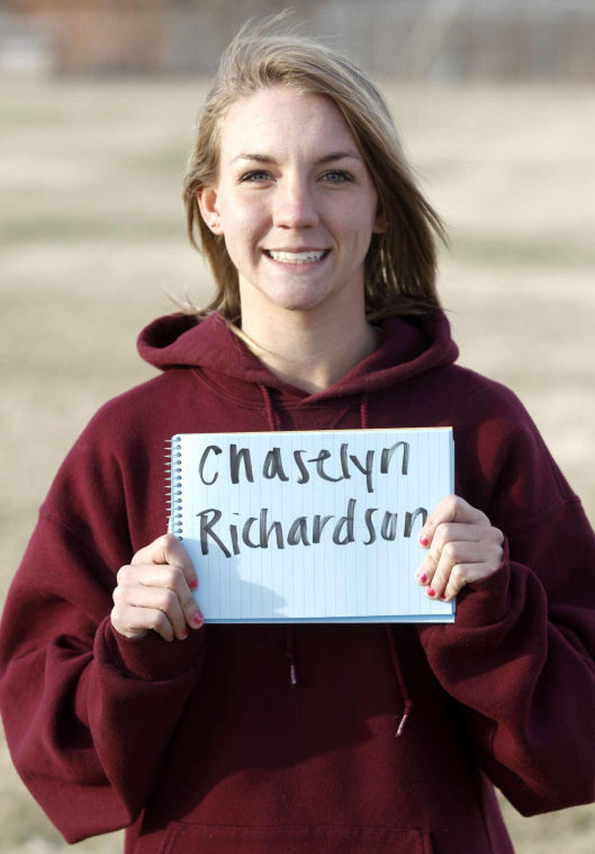 Lee Varsity girls soccer player Chaselyn Richardson photographed Jan 7, 2014. James Durbin/Reporter-Telegram