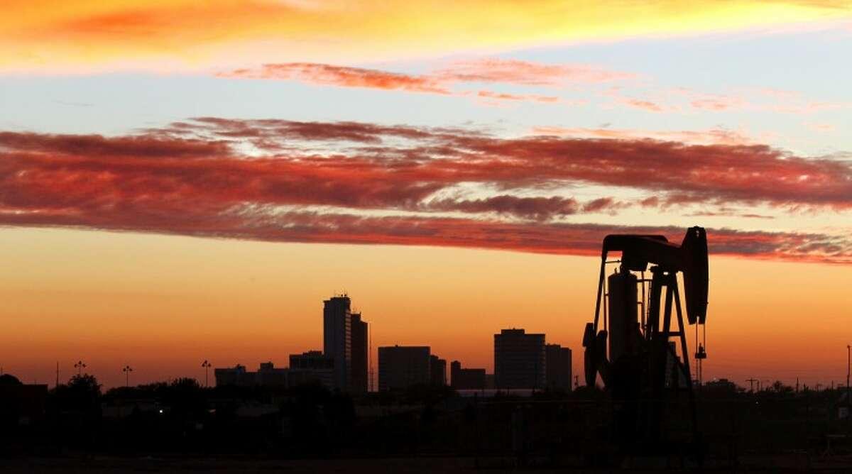 Midland skyline viewed at sunset Saturday, Sept. 15 near Fairgrounds Road. James Durbin/Reporter-Telegram