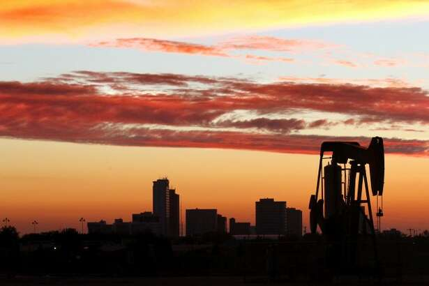 Midland skyline viewed at sunset Saturday, Sept. 15 near Fairgrounds Road. James Durbin/Reporter-Telegram