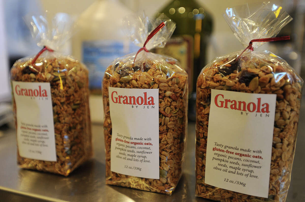 Granola by Jen is sold in twelve ounce bags at farmers markets, online, and in select stores.