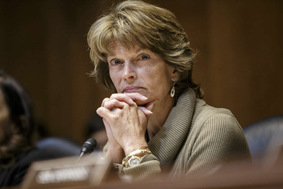 Senate Energy and Natural Resources Committee Chair Sen. Lisa Murkowski, R-Alaska listens during a markup of the long-stalled Keystone XL pipeline as she take over the chairmanship of the committee, Thursday, Jan. 8, 2015, on Capitol Hill in Washington. Her father, former Sen. Frank Murkowski, once held the same post. (AP Photo/J. Scott Applewhite)