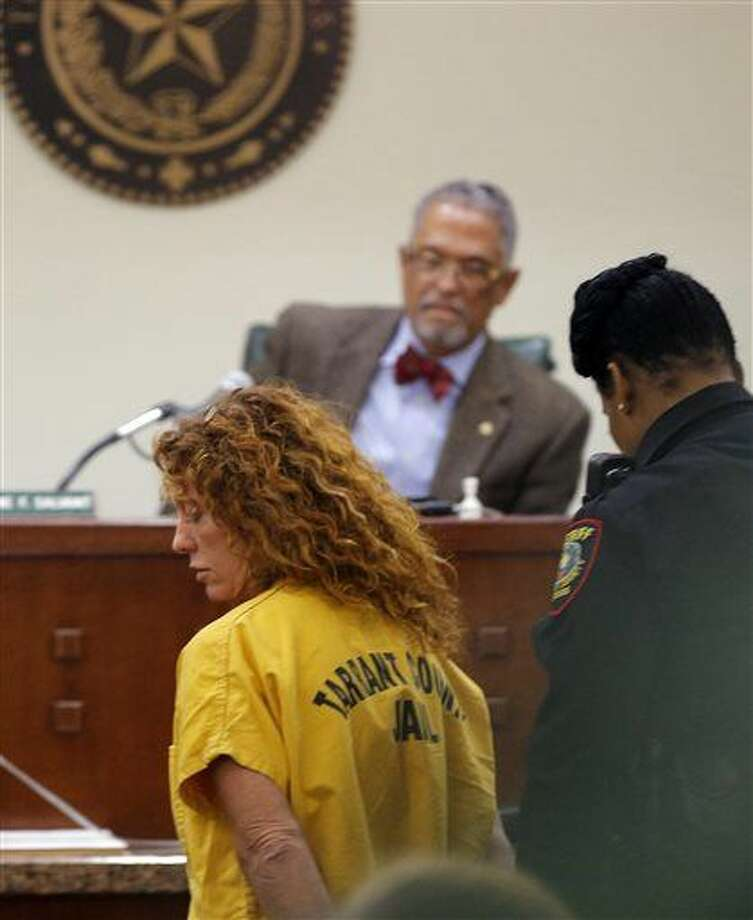 "Tonya Couch appears before state District Judge Wayne Salvant in Fort Worth, Texas, Friday, Jan. 8, 2016. The mother of Ethan Couch, who used an ""affluenza"" defense after killing people in a drunken-driving wreck appeared in court on a charge of hindering the apprehension of a felon. (Rodger Mallison/Star-Telegram via AP, Pool) Photo: Rodger Mallison"