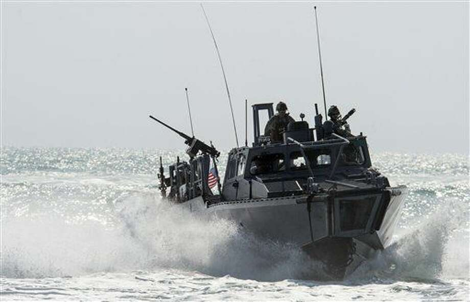 This Nov. 2, 2015, image provided by the U.S. Navy, shows Riverine Command Boat (RCB) 805 in the Persian Gulf. Iran was holding 10 U.S. Navy sailors and their two boats, similar to the one in this picture, on Jan. 12, 2016, after the boats had mechanical problems and drifted into Iranian waters. American officials have received assurances from Tehran that they will be returned safely and promptly. (Torrey W. Lee/U.S. Navy via AP) Photo: Mass Commuication Spc. 2nd Class Torrey W. Lee
