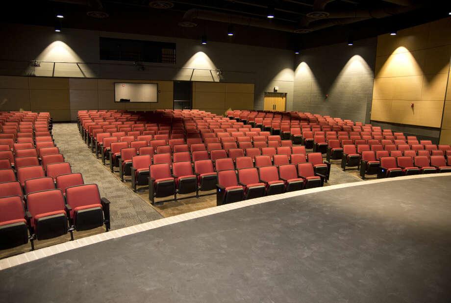 Construction on the new auditorium at Bowie Fine Arts Academy is nearly complete Monday 01-04-15. Tim Fischer\Reporter-Telegram Photo: Tim Fischer