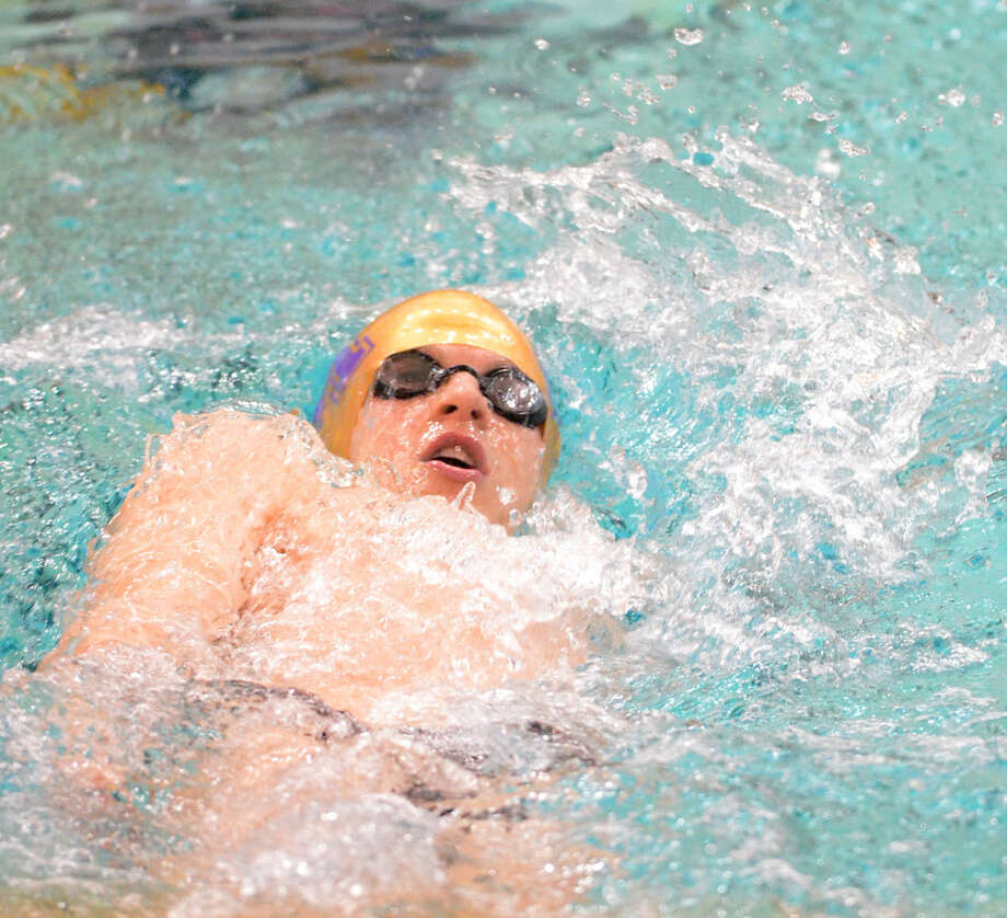 Midland High's Braden Vines competes in the men's 200 yard IM during the District 3-6A swimming and diving championships Saturday, Jan. 24, 2015 at the Mabee Aquatic Center. James Durbin/Reporter-Telegram Photo: James Durbin