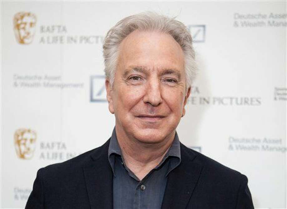 "FILE - In this Wednesday, April 15, 2015 file photo, actor Alan Rickman poses for photographers on arrival at 'BAFTA A Life In Pictures, with Alan Rickman' in central London. British actor Alan Rickman, whose career ranged from Britain's Royal Shakespeare Company to the ""Harry Potter"" films, has died. He was 69. Rickman's family said Thursday, Jan. 14, 2016 that the actor had died after a battle with cancer. (Photo by Grant Pollard/Invision/AP, File) Photo: Grant Pollard"