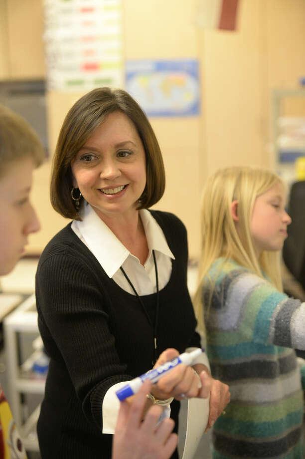Sarah Napier teaches a dyslexic reading class at Scharbauer Elementary on Thursday, Jan. 7, 2016. James Durbin/Reporter-Telegram Photo: James Durbin