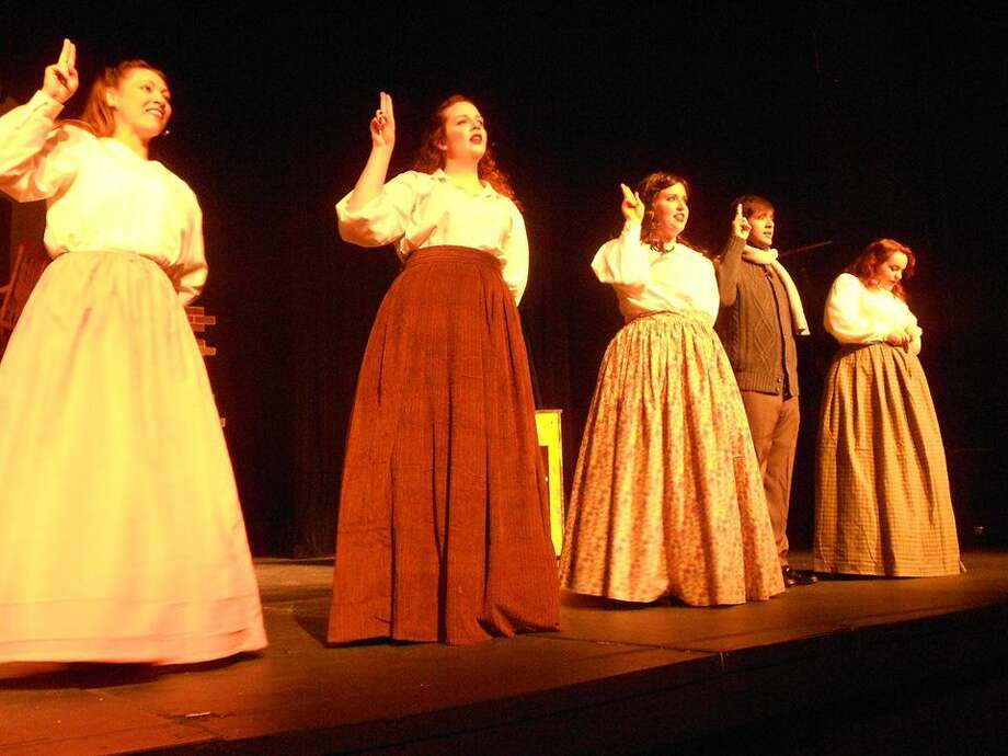The cast of 'Little Women: The Musical' at Permian Playhouse. Photo: Courtesy Amber McDonald