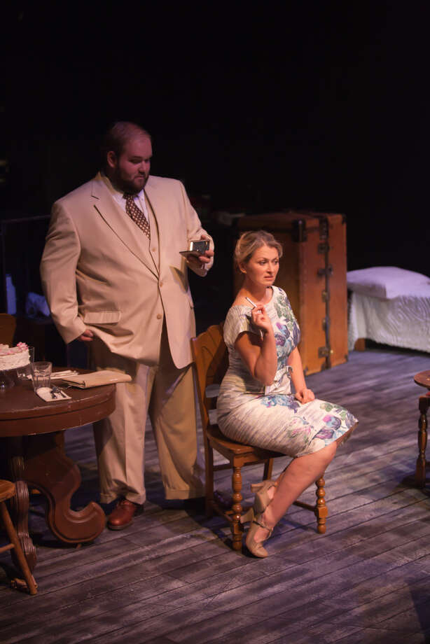 Daniel Collins and Laura Metzger as Mitch and Blanche in MCT's 'A Streetcar Named Desire.' Photo: Courtesy MCT