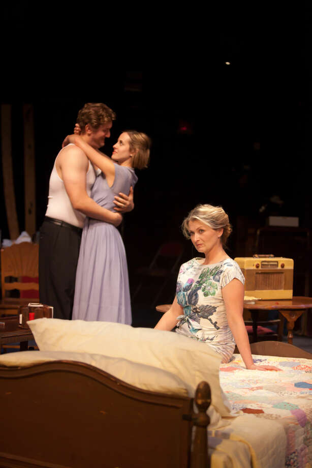 Cody Petty and Jami Witt as Stanley and Stella Kowalski with Laura Metzger, right, as Blanche DuBois in Midland Community Theatre's 'A Streetcar Named Desire.' Photo: Courtesy MCT