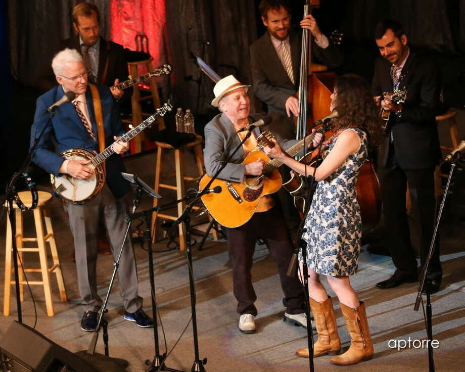 Steve Martin and the Steep Canyon Rangers with Edie Brickell delivered a stellar concert with added surprise guest Paul Simon. Photo: Photo By Alan Torre, Courtesy Wagner Noel Performing Arts Center.
