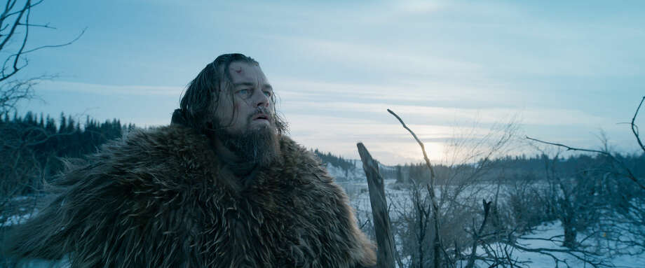 "This photo provided by courtesy of Twentieth Century Fox shows, Leonardo DiCaprio as Hugh Glass, in a scene from the film, ""The Revenant,"" directed by Alejandro Gonzalez Inarritu. The movie opens in limited release on Dec. 25, 2015, and wider release in U.S. theaters on Jan. 8, 2016. (Courtesy Twentieth Century Fox via AP) Photo: HONS"